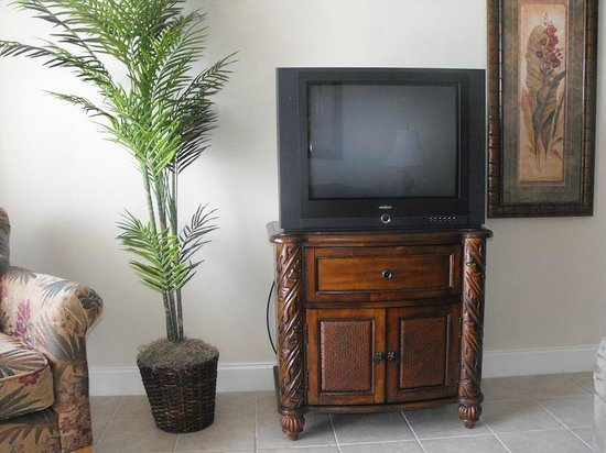 Blue Heron Beach Resort: TV area in Livingroom
