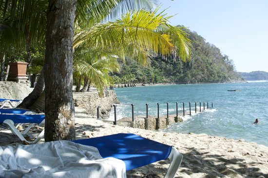 Villa Caletas: You have to check out the private beach area and enjoy the scenery, water and drinks!