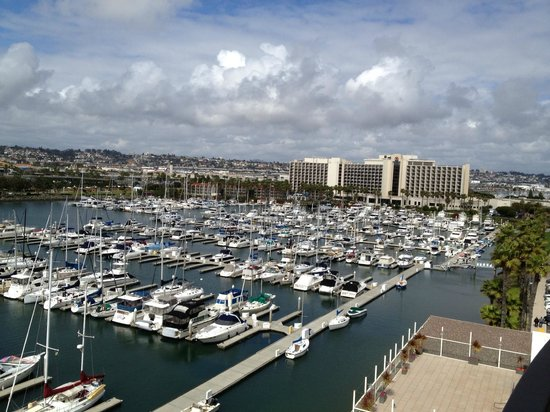 The Sheraton San Diego Hotel & Marina: view from room at marina & other Sheraton building