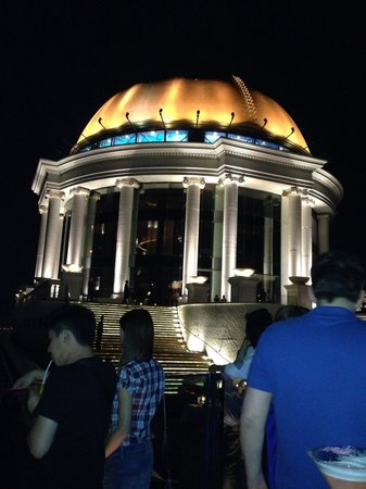 lebua at State Tower: View from Sky bar back through Sirocco Restaurant looking at dome