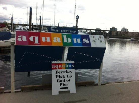 Hampton Inn & Suites Downtown Vancouver: Walk to the Aquabus to go to Granville Island