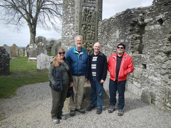 County Meath, Ireland: Vicki, Dave, Michael and Mike at Monasterboice