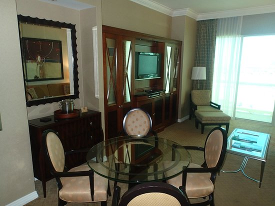 Signature at MGM Grand: spacious front room and balcony