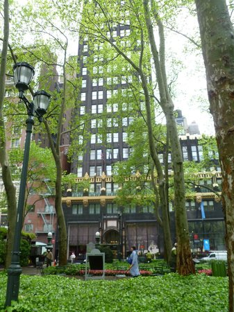 The Bryant Park Hotel: view from the park