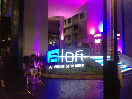 Aloft Bangkok - Sukhumvit 11: Sorry really bad phone photo of the outside of the hotel!