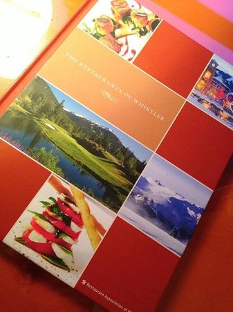 Sundial Boutique Hotel: A colourful informative book to help you pick out the restaurants while staying at Whistler