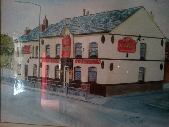 Wigan, UK: Photo of the pub restaurant that hangs in the Lounge Area