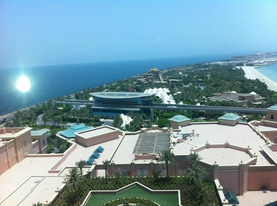 Atlantis, The Palm: watter park view from the room