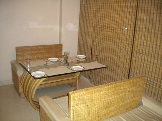 Cane and bamboo furniture in the restaurant picture of