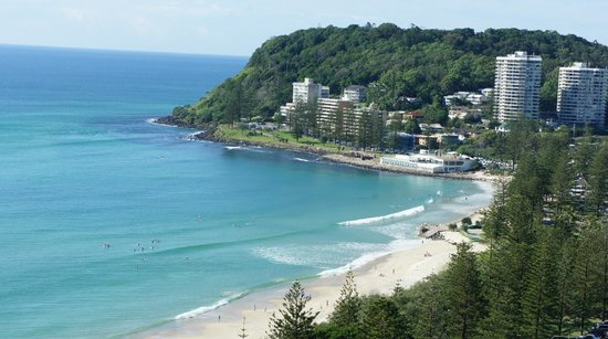 Burleigh Heads, Australie : Beach across the road