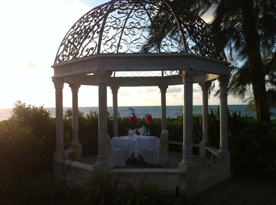 Beaches Turks & Caicos: Our Anniversary vacation, private candle light dinner.