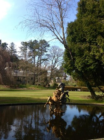 Bovey Castle Hotel: View across the pond