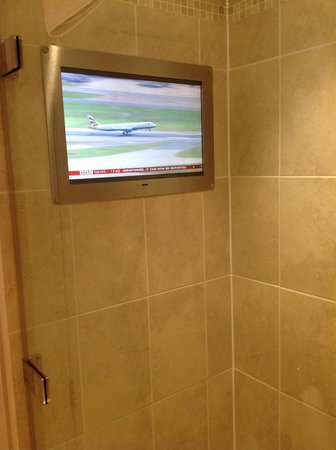 The Royal Horseguards: A TV in the shower (no sound though)