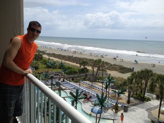 Captains Quarters Resort: View from our oceanfront balcony