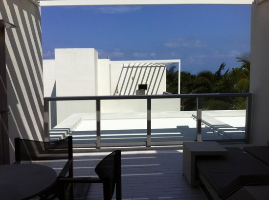 "W South Beach: Actual view from our not-so-""Fabulous"" Studio"
