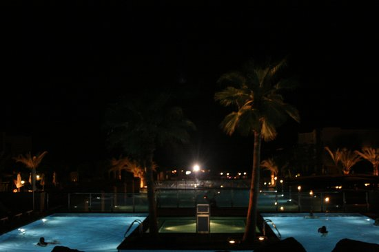 Dead Sea Region, Giordania: The pools at night