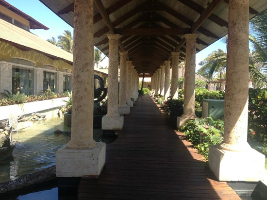 Excellence Punta Cana: walkway to room from lobby