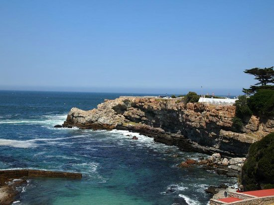 Hermanus, South Africa: Old Harbour lies directly below Lemon Butta