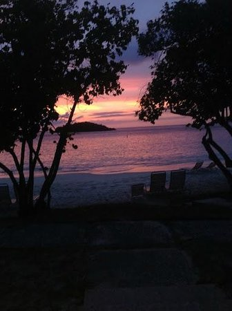 Caneel Bay, A Rosewood Resort: Sunset from our room at Turtle Bay Beach