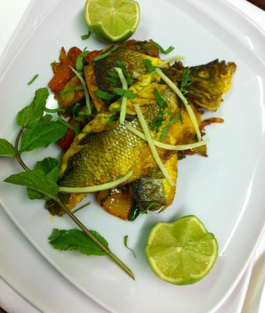 Northampton, UK: Sea bass with lime and ginger