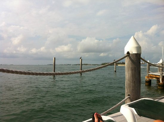Galleon Resort And Marina: View from chair on boardwalk