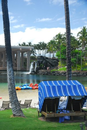 Hilton Waikoloa Village: Our cabana at the Lagoon