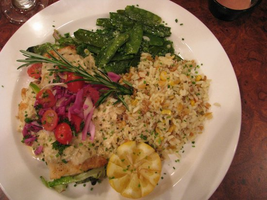 New Castle, DE: Fish with chunch crab and rice