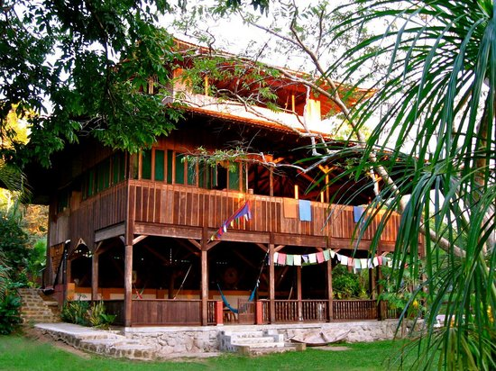 Drake Bay, Costa Rica: Our main lodge is built with 100% reclaimed sustainable timber, housing our Yoga Studio, Confere