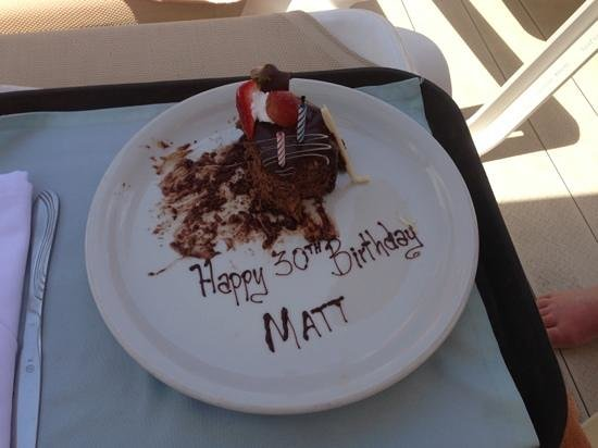 Crown Paradise Club Cancun: they even made a luvly cake for matts 30th!