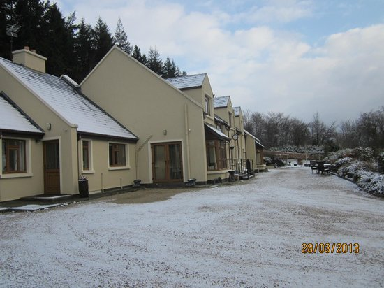 Laragh, Ireland: Early morning after overnight snowfall.