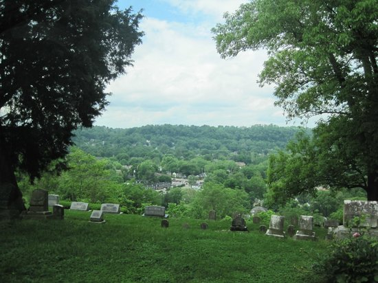View of Frankfort, Ky from Daniel Boone Memorial