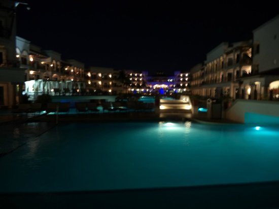The Royal Playa del Carmen: resort at night