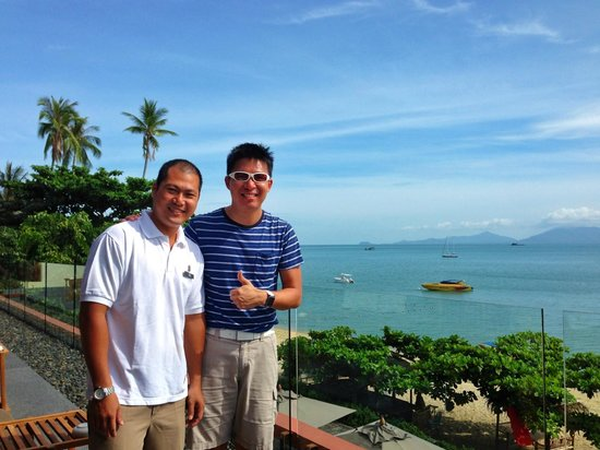 Hansar Samui Resort: with Khun A, Manager of H-Bistro.