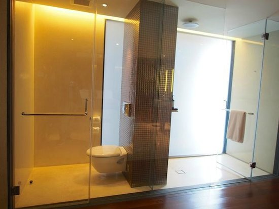 Hansar Bangkok: shower and toilet