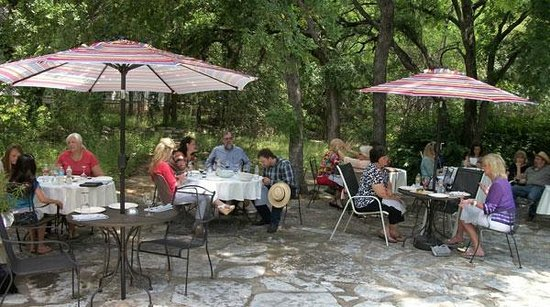 Salado, TX: Creekside patio