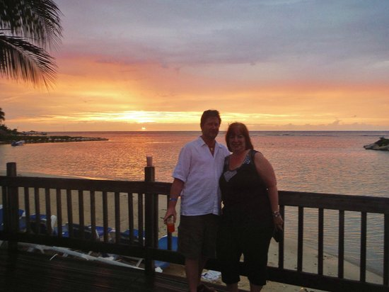 Holiday Inn SunSpree Resort Montego Bay: Me and hubby by beach at sunset