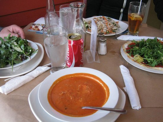 Lunenburg, Canada: Tomato Soup, Greek Salad, Pad Thai, and Vegan Pizza!!
