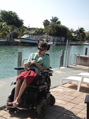 Key Colony Beach, FL: My son on the patio