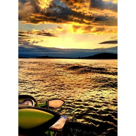 Bigfork, MT: Sunset on Flathead Lake