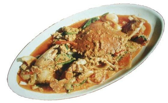 Pak Nam, Thailand: Fried Crab with curry poder