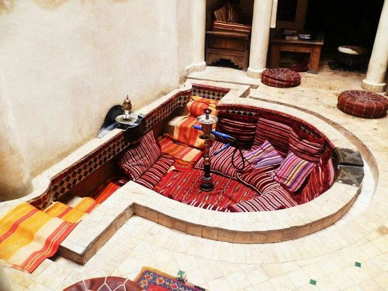 Riad Laksiba: My favourite place (the cwtch) but also a pool in summer