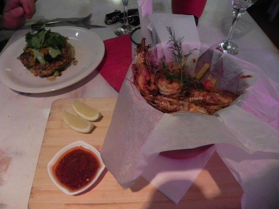 Wilderness, Südafrika: Peri-Peri-Prawn-Bucket at Flava Cafe