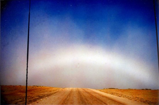South Australia, Australia: Rainbow over Birdsville Track