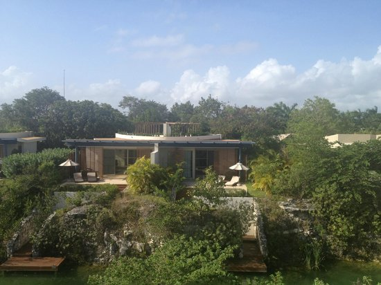 Rosewood Mayakoba: View across the lagoon from our suite.