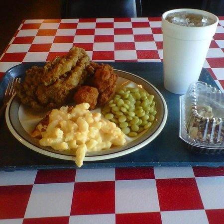 Enterprise, AL: Fried Chicken, Homemade Mac 'n Cheese, Butterbeans, Cornbread, Sweet Tea & Homemade Chocolate Pi