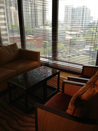 Grand Hyatt Singapore: sitting area