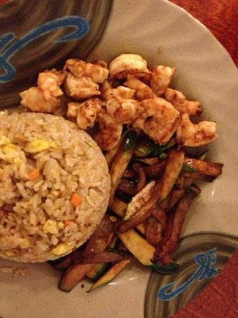 Covington, TN: hibachi shrimp lunch