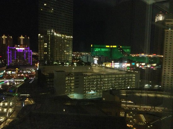 ARIA Resort & Casino: View from our room of the MGM