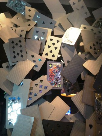 ARIA Resort & Casino: Playing Cards on the walls of the casino bars