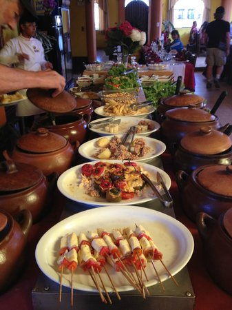 Chivay, Peru: Hot dishes